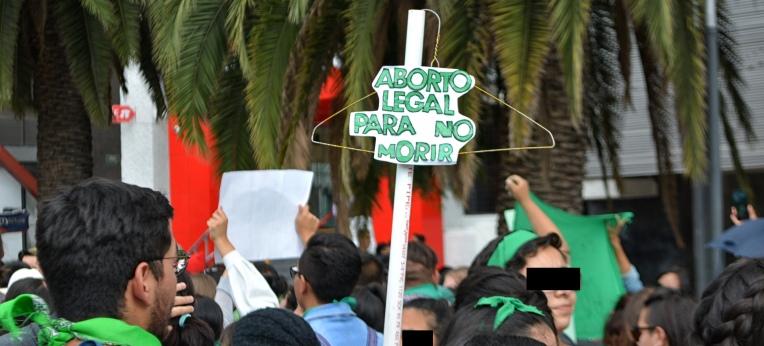 Demonstration für legale und sichere Schwangerschaftsabbrüche
