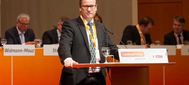 Peter Hauk auf dem Landesparteitag der CDU Baden-Württemberg (2015)