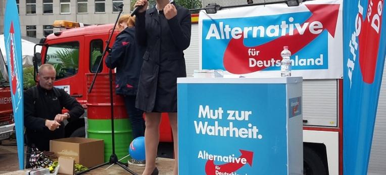 Frauke Petry auf einer AfD-Veranstaltung am 05.09.15 in Bochum