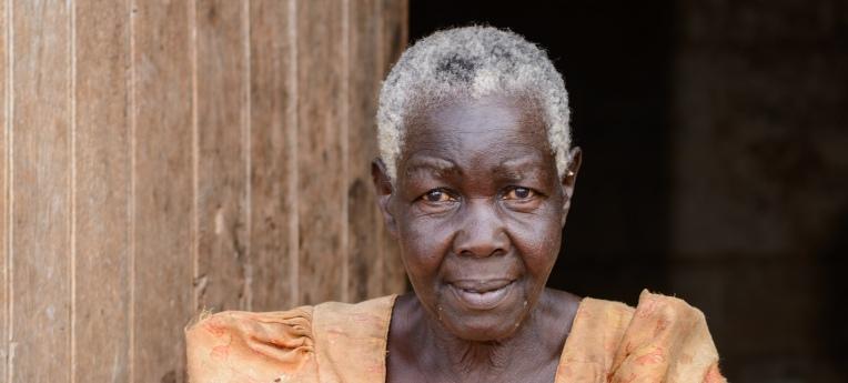 Alte afrikanische Frau
