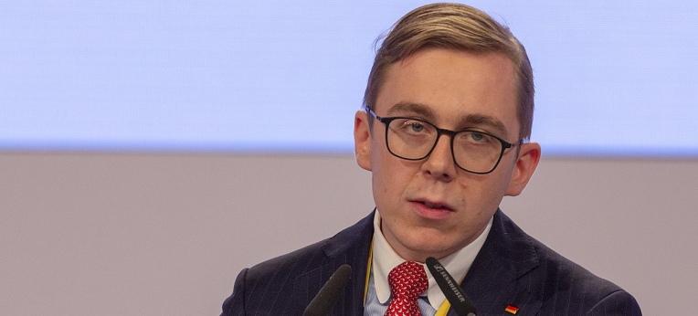 Philipp Amthor auf dem CDU-Parteitag am 22. November 2019 in Leipzig