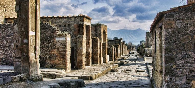 Straße in Pompeji