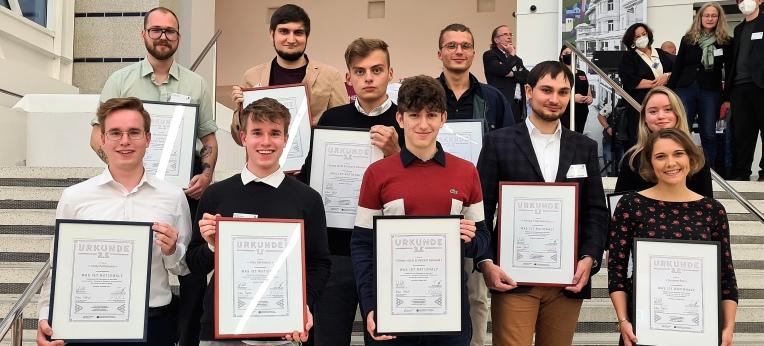 Die Preisträgerinnen und Preisträger des Nachwuchswettbewerbs