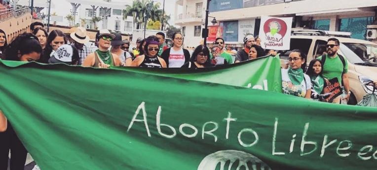 Proteste zum weltweiten Aktionstag für den legalen Schwangerschaftsabbruch 2019