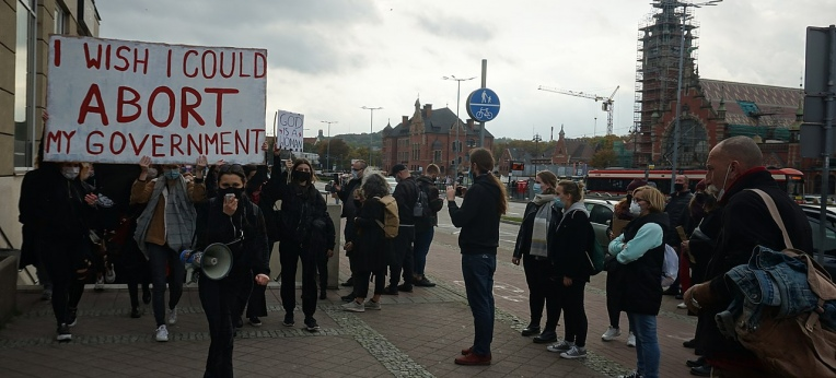 Protest in Danzig