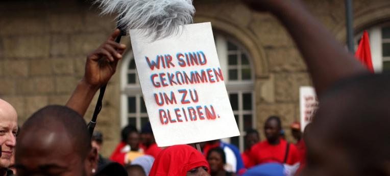 Lampedusa-Flüchtlinge in Hamburg, 17.08.2013