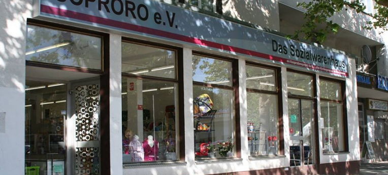 Das Sozialkaufhaus SoproRo in Berlin-Reinickendorf