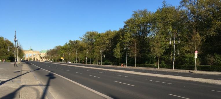 Die Coronakrise ermöglicht leere Straßen in Berlin.