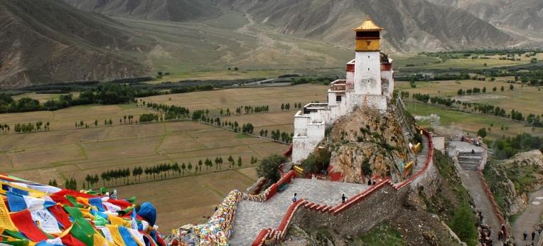 Ein Kloster in Tibet