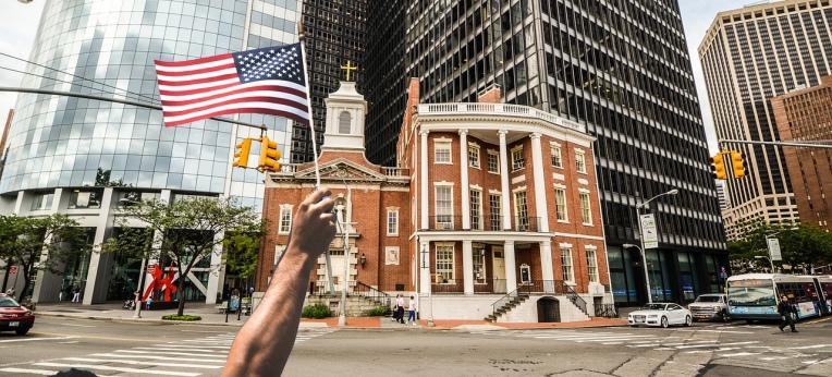 USA Kirche Flagge