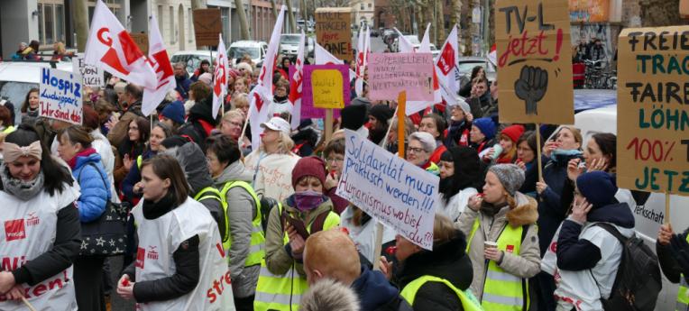 Warnstreik der Mitarbeiter*innen des HVD Berlin-Brandenburg