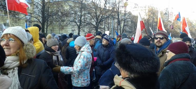 KOD-Demonstration in Warschau am 23.01.2016