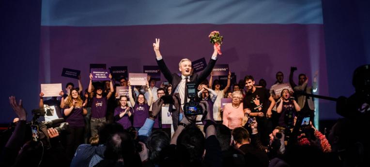"""Gründungsparteitag der """"Wiosna"""" in Warschau"""