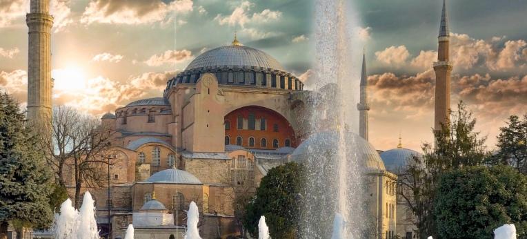 Das Gebäude der Hagia Sophia