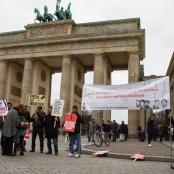 Gedenken an die ermordenden Blogger aus Bangladesch in Berlin