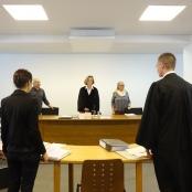 Während der Verhandlung vor dem Berliner Arbeitsgericht.