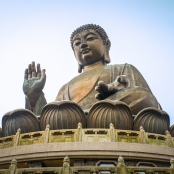 Buddha-Figur in Hong Kong