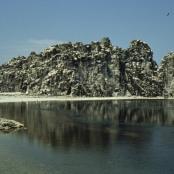 Die einzige Erhebung auf Clipperton: The Rock