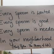 """Plakat bei der """"Kundgebung für sexuelle Selbstbestimmung"""""""