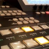 Mischpult in einem Fernstehstudio
