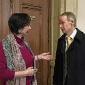 Gita Neumann und Dr. Christoph Turowski im Gespräch