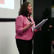 Maryam Namazie bei ihrem Vortrag