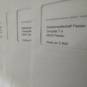 Die 27 Strafanzeigen vom Institut für Weltanschauungsrecht (ifw) auf dem Weg zu den Staatsanwaltschaften.
