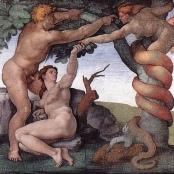 Michelangelo: Sündenfall und Vertreibung aus dem Paradies in der Sixtinischen Kapelle, 1508–12