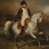 Napoleon zu Pferde (S. Meister, 1832, Öl auf Leinwand, Städtisches Museum Simeonstift Trier)