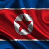 Fahne von Nordkorea