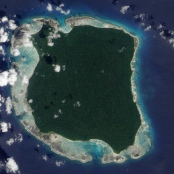 North Sentinel Island, Satellitenfoto der NASA, 2009