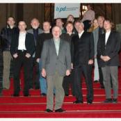 Vor 10 Jahren auf der Treppe des Roten Rathauses