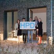 Die Mitglieder der HPD-Redaktion: Evelin Frerk, Florian Chefai, Frank Nicolai, Elke Schäfer (v.l.n.r.), Helmut Debeliius (im Hintergrund)