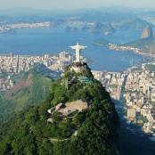 Die Cristo Redentor Statue in Rio de Janeiro