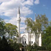 Sehitlik-Moschee am Columbiadamm in Berlin-Neukölln.