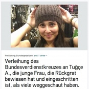Screenshot der Petition für Tugce Albayrak