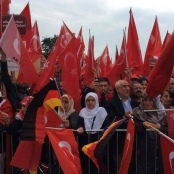 Demonstration von Türken in Deutschland
