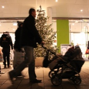 Weihnachtseinkaufsstress