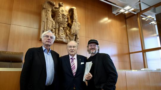 Dieter Birnbacher, Ludwig Minelli und Michael Schmidt-Salomon.