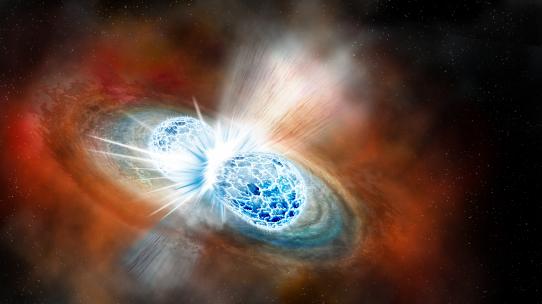 Kosmische Kollision: Wenn zwei Neutronensterne zusammenstoßen, bebt der Weltraum