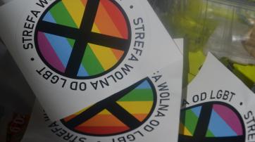 """Polnische Sticker, die """"LGBT-freie Zonen"""" markieren sollen"""