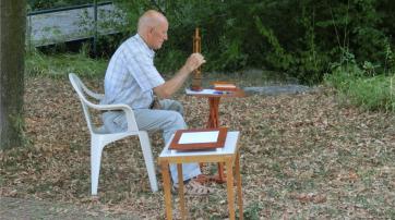 Piotr Trawa beim Pendeln