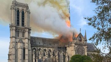 Brand in Notre-Dame de Paris im April 2019