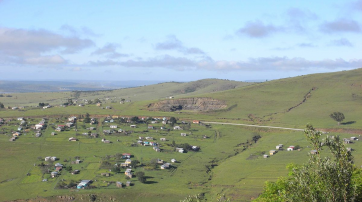 Xhosa-Siedlung im Tyhume-Tal an den Amathole-Bergen.
