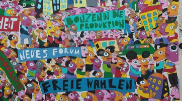 Ausschnitt eines Wandbilds von Michael Fischer-Art