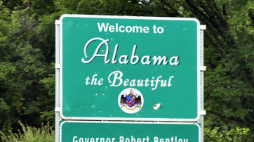 Alabama-Grenzschild