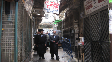 "Ulraorthodoxe Juden im Jerusalemer Stadtbezirk ""Mea Shearim"""