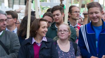 """Beatrix von Storch führt den """"Marsch für das Leben"""" an."""