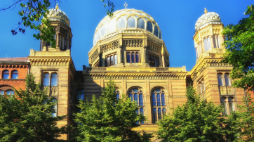 Die jüdische Synagoge in Berlin.