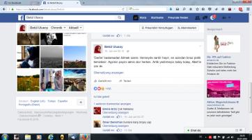 Screenshot der Facebook-Seite von Betül Ulusoy